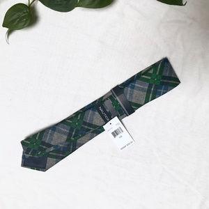 Nautica Accessories - 🆕 Nautica — Plaid Tie in Green, Blue, & Grey NWT